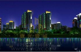 深圳后海湾畔景观照明规划