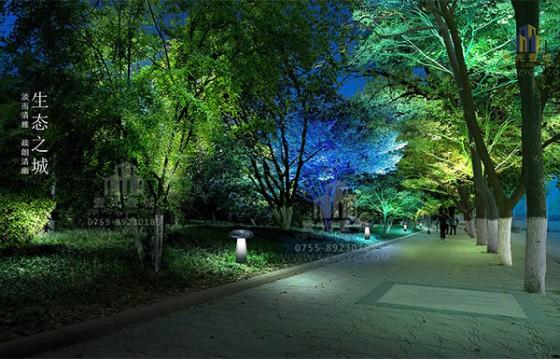 铜陵长江西路及铜都绿化景观照明规划